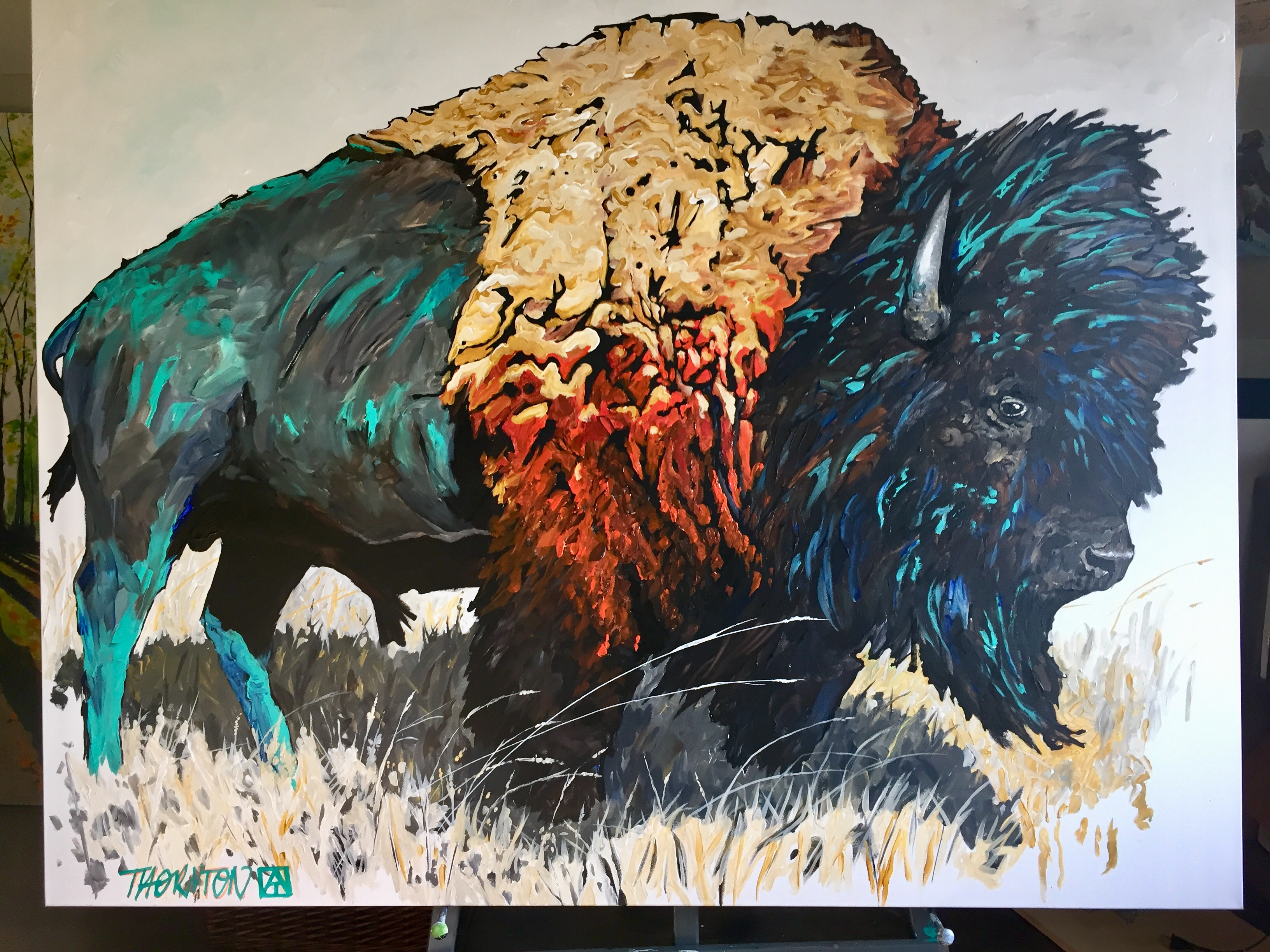 turquoise bison